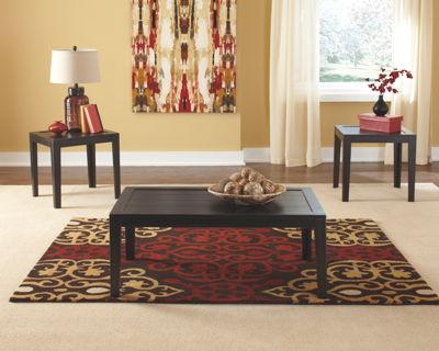 Birstrom - Black/Brown - Occasional Table Set (3/CN)
