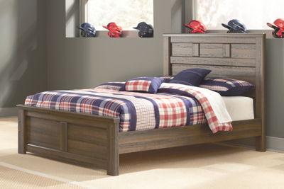 Juararo - Dark Brown - Full Panel Bed