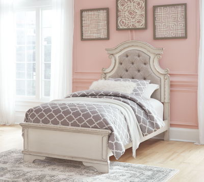 Realyn - Chipped White - Twin Panel Bed